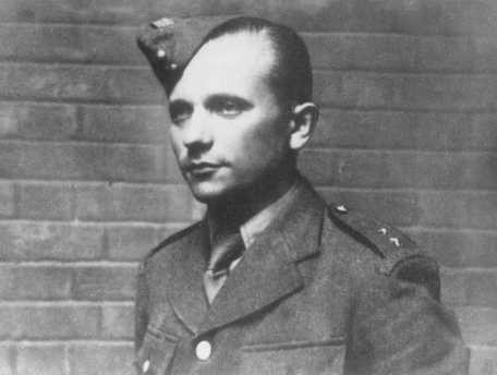 "<p>Josef Gabnik, a Czech resistance fighter and parachutist who participated in the assassination of <a href=""/narrative/10812/en"">Reinhard Heydrich</a>, the Nazi governor of Bohemia and Moravia. Prague, Czechoslovakia, probably May 1942.</p>