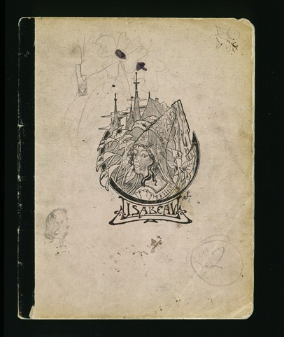 The cover of a diary written by Elizabeth Kaufmann while living with the family of Pastor André Trocmé in Le Chambon-sur-Lignon. [LCID: n06958]