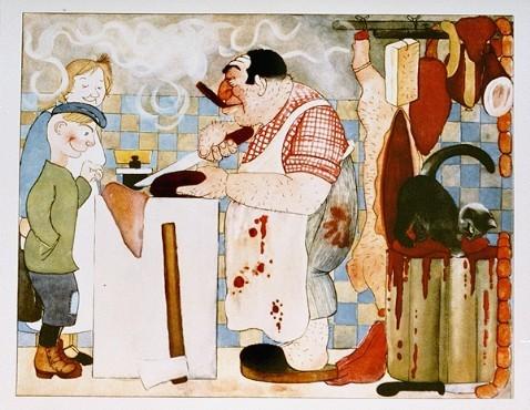"Page from the antisemitic German children's book, ""Trau Keinem Fuchs..."" [LCID: 10640g]"