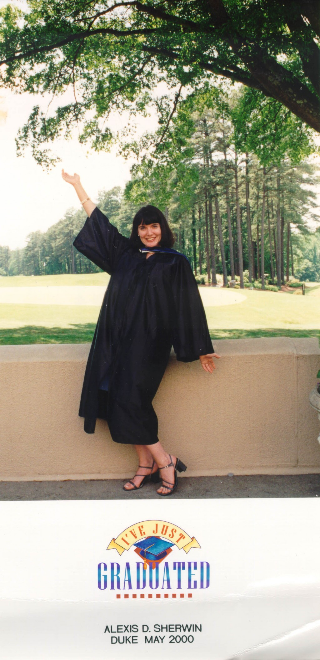 Blanka's granddaughter Alexis Danielle graduates from university in May 2000.