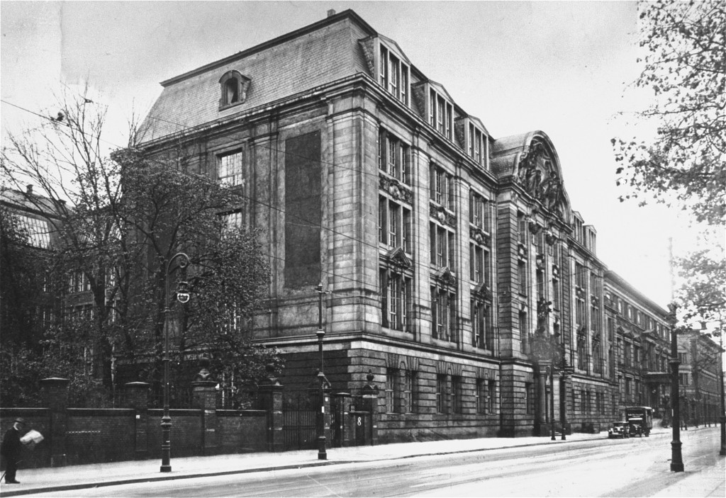 """<p>Headquarters of the Nazi <a href=""""/narrative/11779/en"""">Gestapo</a> (secret state police) and of the Reich Security Main Office (RSHA). Berlin, Germany, date uncertain.</p>"""