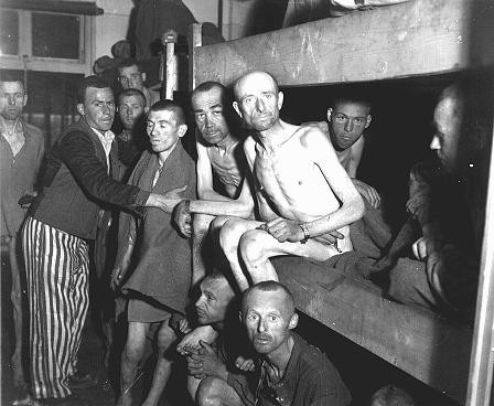 Survivors of the Ebensee subcamp of the Mauthausen concentration camp. [LCID: 02743]