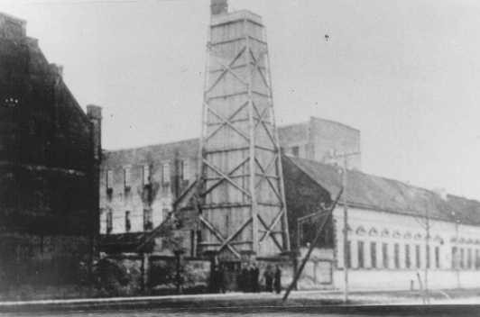 <p>Djakovo camp, where Croatian Jews were imprisoned and killed, was located in this former flour mill. Yugoslavia, wartime.</p>