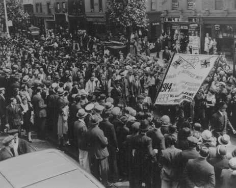 Protest against persecution of German Jews. London, Great Britain, July 20, 1933.