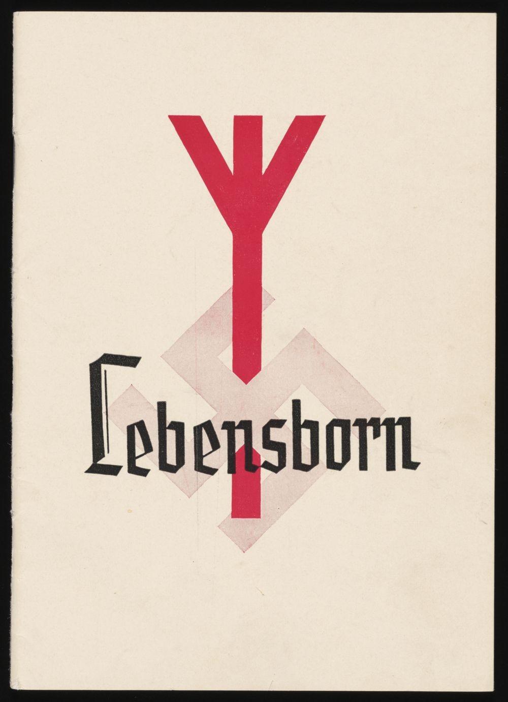 Front cover of a Lebensborn program brochure