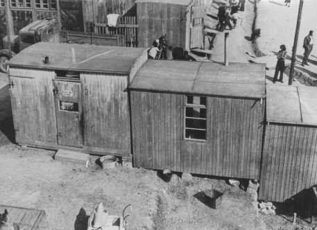 "<p>Forced-labor camp for <a href=""/narrative/4500"">Roma</a> (Gypsies). Lety, Czechoslovakia, wartime.</p>"
