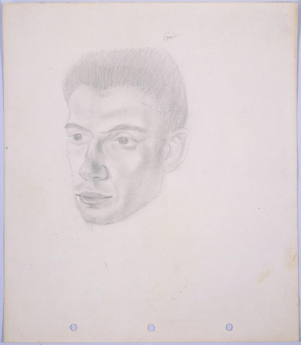 Portrait by refugee artist Yonia Fain [LCID: 20028kop]