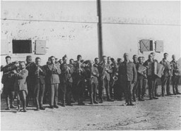 Prisoners in the Janowska concentration camp orchestra, which performed as workers were taken to and from forced labor.