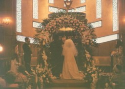 "<p>Wedding of <a href=""/narrative/10214"">Blanka Rothschild</a>'s daughter, Shelly, in 1974. The wedding took place at a temple in New York.</p>"
