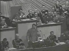 Hitler speaks before the Reichstag (German Parliament)
