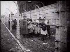 <p>Soviet troops entered the Auschwitz camp in Poland on January 27, 1945. This Soviet military footage shows children who were liberated at Auschwitz by the Soviet army. During the camp's years of operation, many children in Auschwitz were subjected to medical experiments by Nazi physician Josef Mengele.</p>