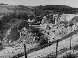 Carrière du camp de concentration de Mauthausen.