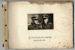 "<p class=""first-para""><a href=""/narrative/10876/en"">Karl Höcker's photograph album </a>includes both documentation of official visits and ceremonies at Auschwitz as well as more personal photographs depicting the many social activities that he and other members of the Auschwitz camp staff enjoyed.</p>"
