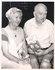 Amalie and Norman Salsitz with a copy of their book