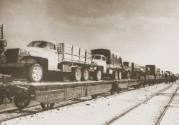 Shipment of trucks through Lend-lease program