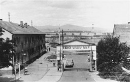 "<p>View of the Zeilsheim <a href=""/narrative/6365"">displaced persons camp</a>. Zeilsheim, Germany, 1947-1948.</p>