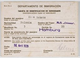 Cuban immigration papers