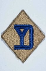 "<p>Insignia of the <a href=""/narrative/7861"">26th Infantry Division</a>. The 26th Infantry Division, the ""Yankee"" division, was so nicknamed to recognize the six New England states from whose National Guard units the division was raised during <a href=""/narrative/28"">World War I</a>.</p>"