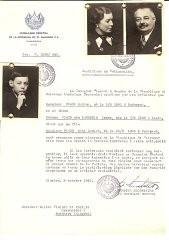 Paul Fisch, estudiante universitario en Zúrich, hizo gestiones para que se les enviara un certificado a sus padres y a su hermano ...