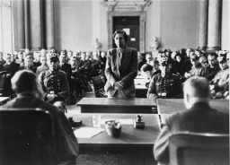 "<p>Participants in the <a href=""/narrative/12002"">July 1944 plot to assassinate Hitler</a> on trial before the People's Court of Berlin. Berlin, Germany, August–September 1944.</p>"