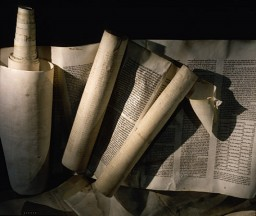 "<p>These Torah scrolls, one from a synagogue in <a href=""/narrative/6000/en"">Vienna</a> and the other from Marburg, were desecrated during <a href=""/narrative/4063/en""><em>Kristallnacht</em> </a>(the ""Night of Broken Glass""), the violent anti-Jewish pogrom of November 9 and 10, 1938. The pogrom occurred throughout Germany, which by then included both Austria and the Sudetenland region of Czechoslovakia. The scrolls pictured here were retrieved by German individuals and safeguarded until after the war.</p>"