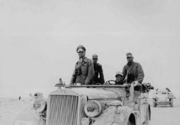<p>Lieutenant General (later Field Marshal) Erwin Rommel commanded German forces during the campaign in North Africa. Libya, 1941.</p>