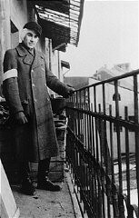 A young Jewish man, Naftali Saleschutz, in the Tarnow ghetto.