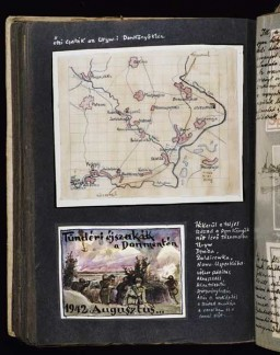 Beifeld album page illustrating military events