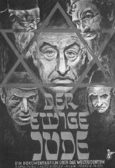 """Affiche de propagande annonçant le film antisémite """"Der ewige Jude"""" (Le Juif errant)."""