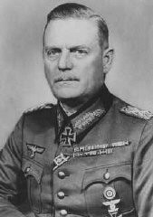 "<p>Wilhelm Keitel, head of the German Armed Forces <a href=""/narrative/12011/en"">High Command</a>, who signed orders authorizing the shooting of <a href=""/narrative/10135/en"">Soviet prisoners of war</a>. Germany, 1942.</p>"