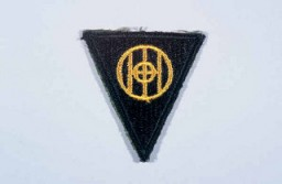 "<p>Insignia of the <a href=""/narrative/7877/en"">83rd Infantry Division</a>. The 83rd Infantry Division received its nickname, the ""Thunderbolt"" division, after a division-wide contest for a new nickname held in early 1945. The earlier nickname, ""Ohio,"" was based on the division's insignia (which includes the name ""Ohio,"" where the division was raised during <a href=""/narrative/28/en"">World War I</a>). A new nickname was desired to represent the nationwide origins of the division's personnel during <a href=""/narrative/2388/en"">World War II</a>.</p>"