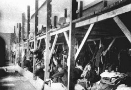 "<p>Jews from Bulgarian-occupied Macedonia and Thrace interned in the ""Monopol"" tobacco factory, which was was used as a transit camp. They were ultimately deported to the <a href=""/narrative/3819/en"">Treblinka</a> killing center. Skopje, Macedonia, March 11-31, 1943.</p>"