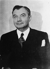 <p>US Chief Prosecuter Robert H. Jackson, pictured at the time of the International Military Tribunal (1945–1946). In 1941, Jackson had been appointed to the US Supreme Court. Justice Jackson took a leave of absence from the court in 1945 to serve as chief US war crimes prosecutor at the Nuremberg trials of former German leaders. He returned to the Supreme Court in 1946.</p>