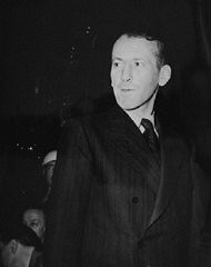 <p>Defendant Ernst Kaltenbrunner during the International Military Tribunal at Nuremberg. He was Chief of the Reich Security Main Office (RSHA) and later Chief of the Security Police.</p>