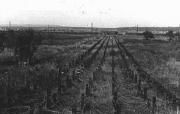 """<p>A view of part of the Maginot Line, a French defensive wall built after <a href=""""/narrative/28"""">World War I</a>. It was intended to deter a German invasion. France, ca. June 1940.</p>"""