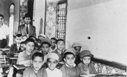 <p>This photo was taken during the journey of Bluma (Kleinhandler) and Zygmunt Godzinski from Poland to Argentina. Casablanca, Morocco, 1946.</p>