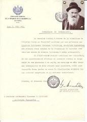 Mandel-Mantello emitió certificados a muchos judíos en toda Europa.