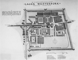 A map of the Westerbork transit camp