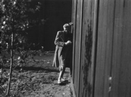 "<p>Clandestine photograph of a Polish political prisoner and <a href=""/narrative/3000/en"">medical experiment</a> victim in the <a href=""/narrative/4015/en"">Ravensbrück</a> concentration camp. </p>