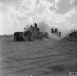 Western Desert Campaign Churchill Mk III tanks of 'King Force' move toward battle area during the Second Battle of El Alamein, Egypt, 5 November 1942.