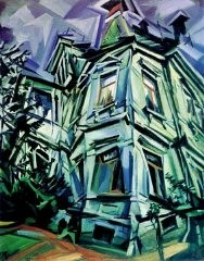 <p>Ludwig Meidner, The Corner House (Villa Kochmann, Dresden), 1913. Oil on canvas, 92.7 x 78 cm.</p>