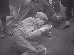 <p>As Allied forces approached Germany in late 1944 and early 1945, Bergen-Belsen became a collection camp for tens of thousands of prisoners evacuated from camps near the front. Thousands of these prisoners died due to overcrowding, poor sanitary conditions, and lack of adequate food and shelter. On April 15, 1945, British soldiers entered Bergen-Belsen. They found 60,000 prisoners in the camp, most in a critical condition. This footage shows Allied cameramen filming the condition of the prisoners and the filthy conditions found in Bergen-Belsen after liberation.</p>