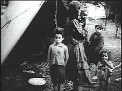 Romani (Gypsy) campsite in Slovenia