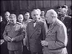 President Truman attends Potsdam Conference