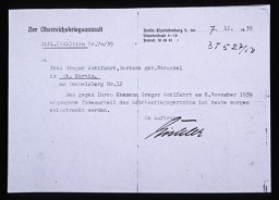 Notice of Gregor Wohlfahrt's execution