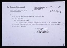 格里格尔·沃尔法特(Gregor Wohlfahrt )的行刑通知