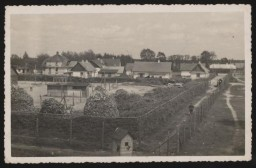 "<p><span style=""font-weight: 400;"">View of the Sobibor <a href=""/narrative/2746"">killing center</a> and the German personnel living quarters, taken from a watchtower in the early summer of 1943. </span></p>