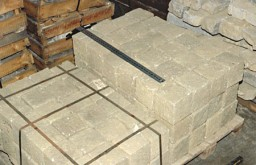 <p>This photograph shows some of the 190 granite blocks donated to the United States Holocaust Memorial Museum by the Mauthausen Public Memorial in Austria. The Nazis established the Mauthausen concentration camp in 1938 near an abandoned stone quarry. Prisoners were forced to carry these granite blocks up more than 180 steps. The small blocks weighed between 30 and 45 pounds each. The larger blocks could each weigh more than 75 pounds. Prisoners assigned to forced labor in the camp quarry were quickly worked to death.</p>