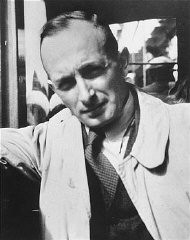 "<p><a href=""/narrative/10832"">Adolf Eichmann</a>, SS official in charge of deporting European Jewry. Germany, 1940.</p>"
