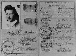 False identification card used by Vladka Meed